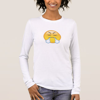 Face With Look Of Triumph Emoji Long Sleeve T-Shirt
