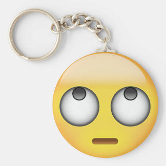 Face With Rolling Eyes Emoji Key Ring