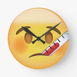 Face With Thermometer Emoji Clocks