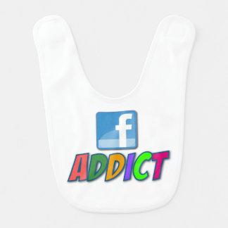 Facebook Addict Baby Bib