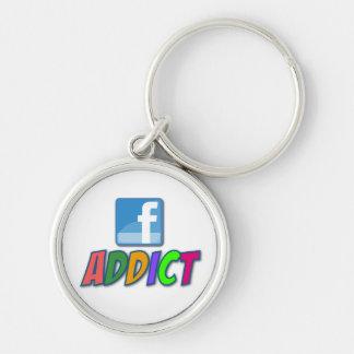 Facebook Addict Keychain