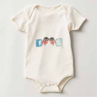 Facebook and Twitter Real Challenge Baby Bodysuit