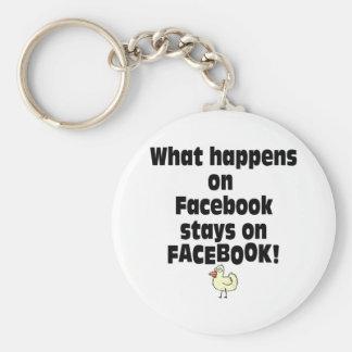 Facebook Basic Round Button Key Ring
