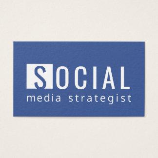 Facebook Blue Social Media Strategist - Blogger Business Card
