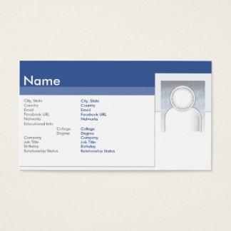 Facebook - Business Business Card