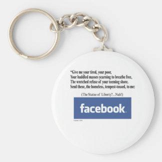 Facebook Concept Basic Round Button Key Ring