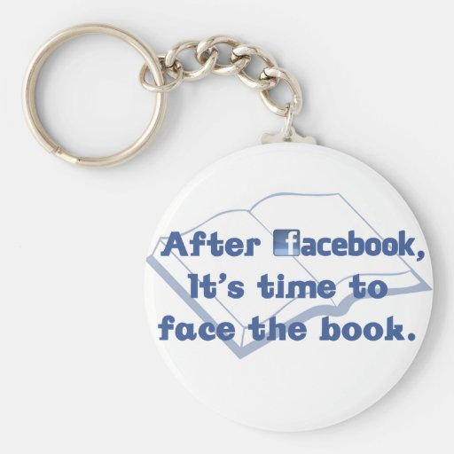 Facebook - Face the Book Keychain