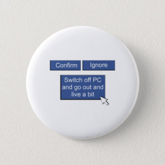 Facebook - go out and live 6 cm round badge