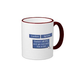 Facebook - go out and live mug