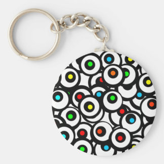 Facebook Graffiti Basic Round Button Key Ring