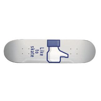 Facebook hand like to skate funny skateboard
