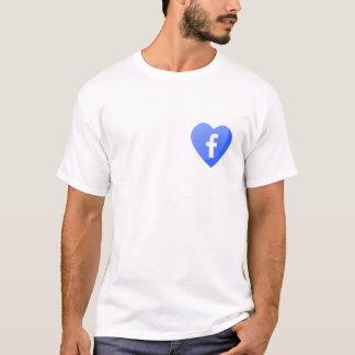 Facebook Heart - T-Shirt for Facebook Lovers