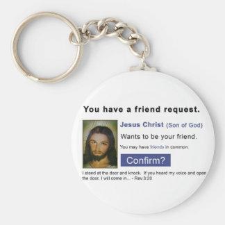 Facebook jesus keychain