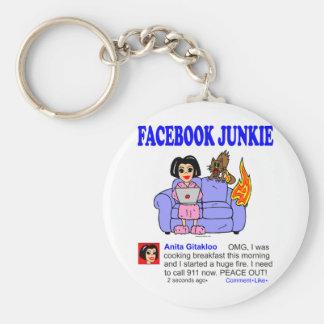 FACEBOOK JUNKIE KEY CHAIN