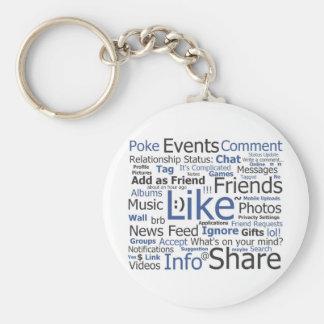 Facebook Key Chain