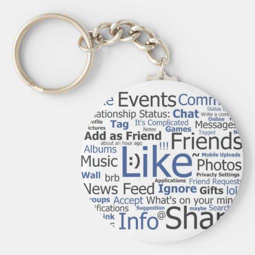 Facebook Key Chains
