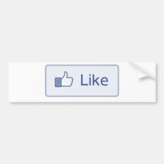 Facebook Like Bumper Sticker