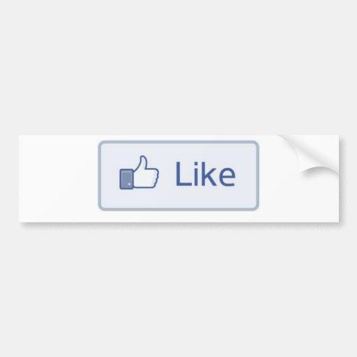 Facebook Like Bumper Stickers