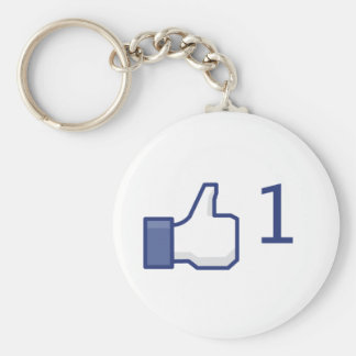 facebook like button basic round button key ring