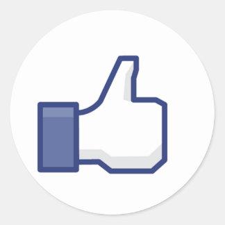 Facebook Like Button Round Sticker
