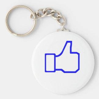 Facebook Like Keychains