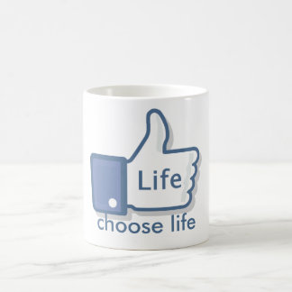 Facebook Like Life Thumbs-Up Coffee Mug