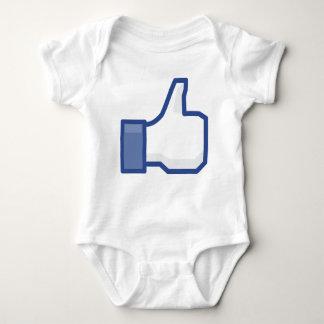 facebook LIKE me thumb up! Baby Bodysuit