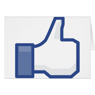facebook LIKE me thumb up! Card