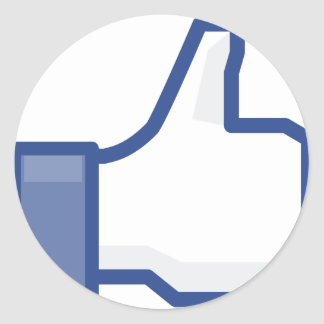 facebook LIKE me thumb up! Classic Round Sticker