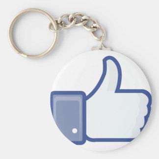 facebook LIKE me thumb up Keychain