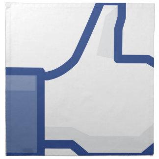 facebook LIKE me thumb up! Napkin