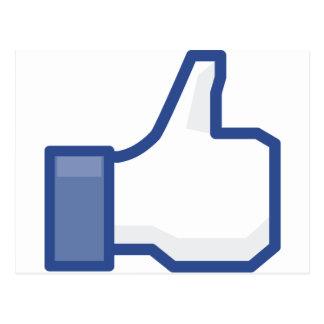 facebook LIKE me thumb up! Postcard