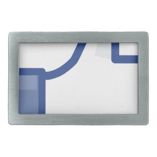 facebook LIKE me thumb up! Rectangular Belt Buckle