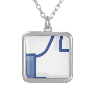 facebook LIKE me thumb up! Silver Plated Necklace