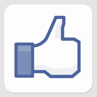 facebook LIKE me thumb up! Square Sticker