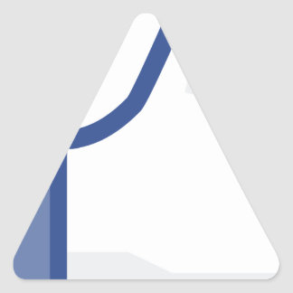 facebook LIKE me thumb up! Triangle Sticker