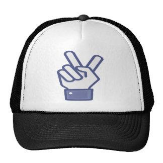 Facebook like peace sign cap