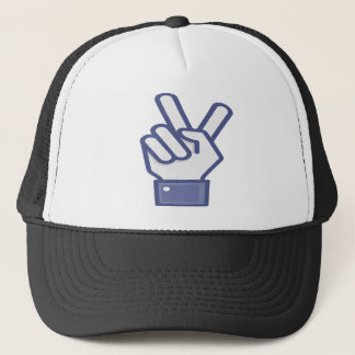 Facebook like peace sign trucker hat