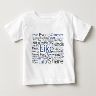 Facebook - like, poke, tagged, friends baby T-Shirt