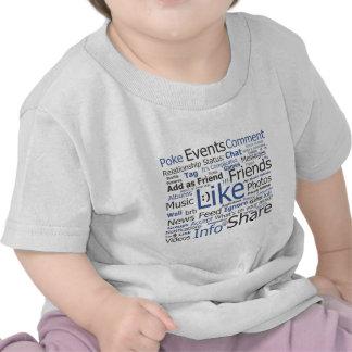 Facebook - like poke tagged friends shirts