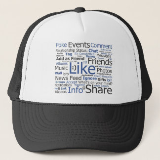 Facebook - like, poke, tagged, friends trucker hat