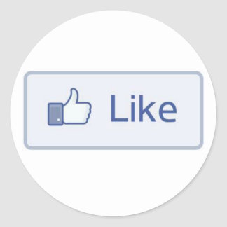 Facebook Like Round Sticker