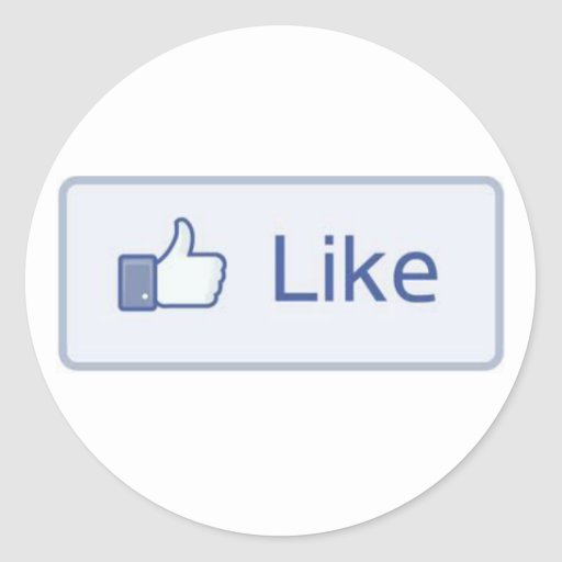 Facebook Like Round Stickers