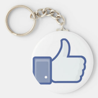 facebook LIKE thumb up icon graphic Keychain
