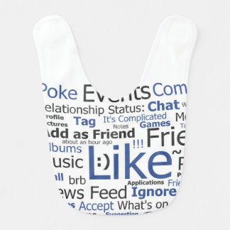 Facebook Like Word Collage Baby Bib