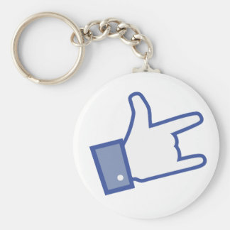 Facebook like You Rock thumb Rock and Roll icon Key Chains