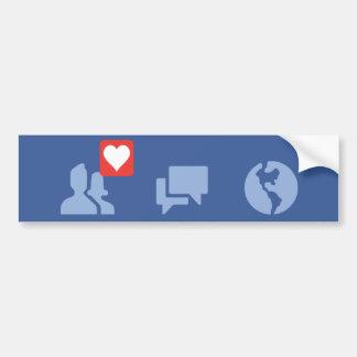 facebook love icons bumper sticker