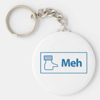 Facebook Meh Key Chain