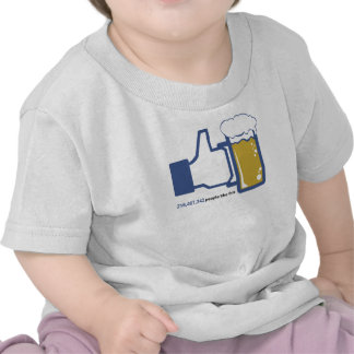 Facebook Parody Beer Thumbs Up - People Like This T Shirts