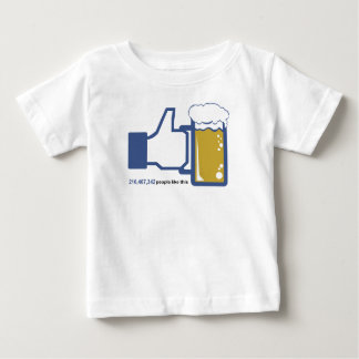 Facebook Parody Beer Thumbs Up - People Like This Tshirt